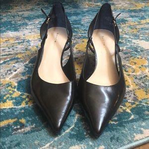 Black Bandolino Leather Pointed Toe Heels NWOB 10
